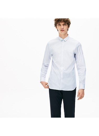 Lacoste Erkek Slim Fit Gömlek CH6793.9AR Mavi